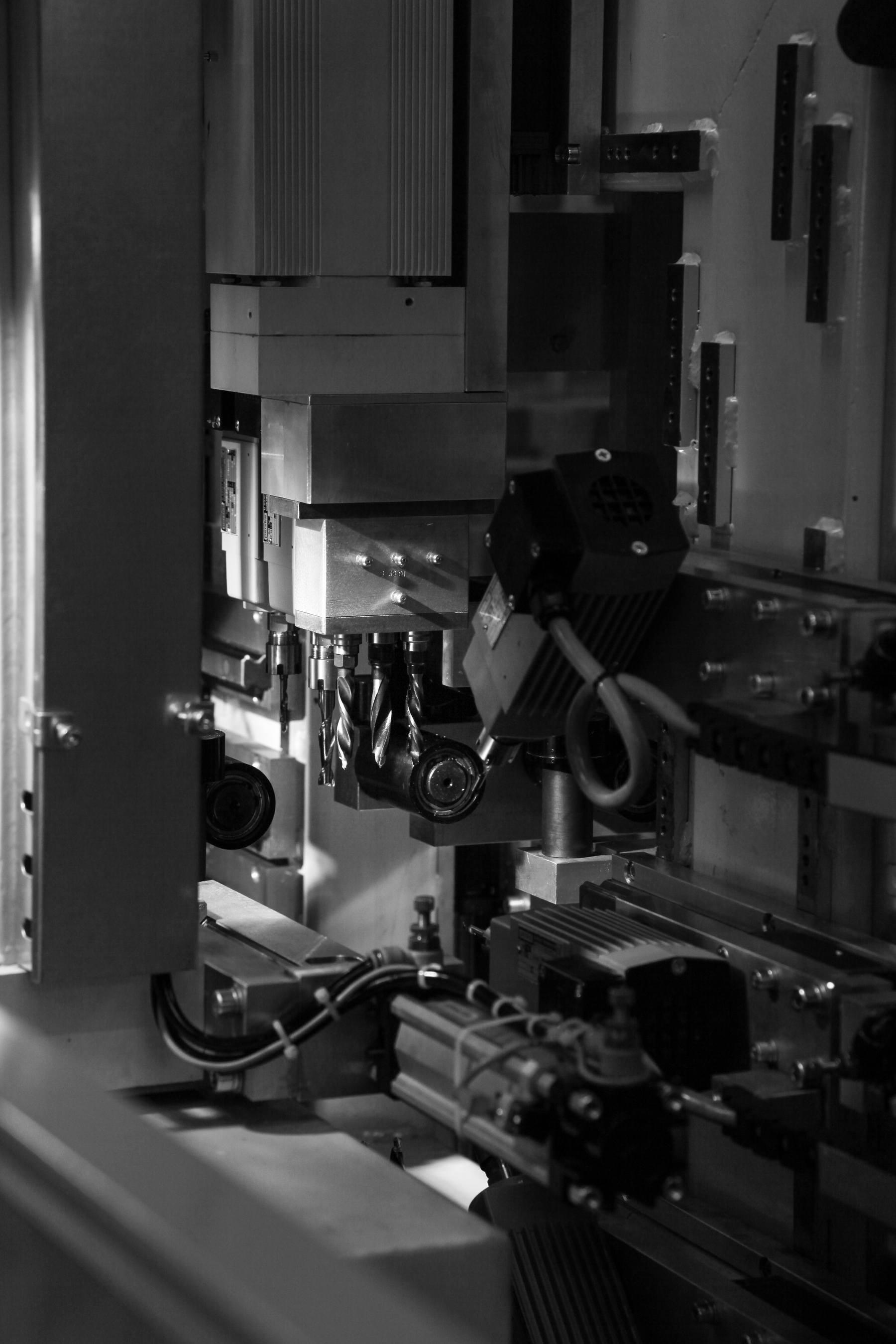 Consumables - Drill bits inside of a Supercut cutting and machining centre